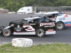 Andy Lindeman (3) and Patrick Dupree battle for the Modified feature win