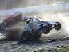 Jamie Spaulding takes a wild ride during W\USAC Dirt Midgetr action