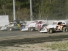 3 wide in Sportsman Coupe action with Jason Horniak (3), Jeremy Beckley (24) & Terry Williams (97)