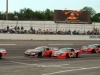 Tim George Jr. (5t) looks to the inside of Preston Peltier (26) in turn 4 but was unsuccessful at  making the pass.