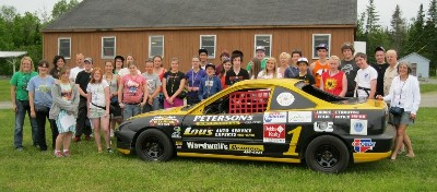 Camp kids and staff with car 2013
